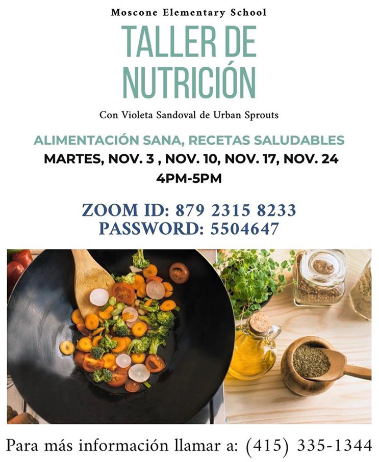Moscone Elementary School - Taller de Nutrición